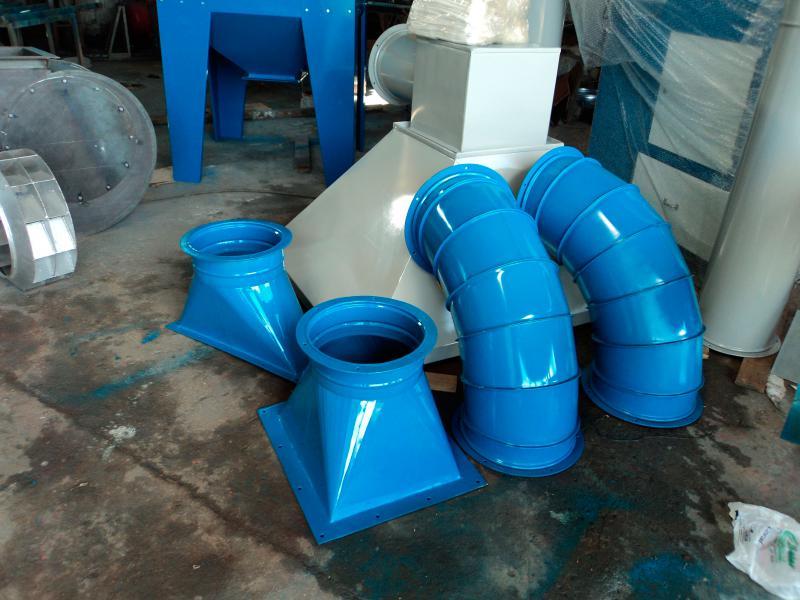 Tubulação de ar industrial